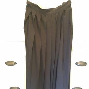 Max Mara Plaid Midi Skirt